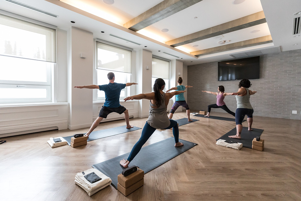 Yoga class | Fairmont Chateau Lake Louise | Lake Louise Wellness