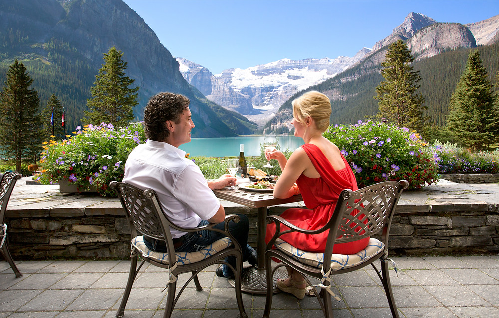Mindful dining in Banff National Park, Alberta, Canada