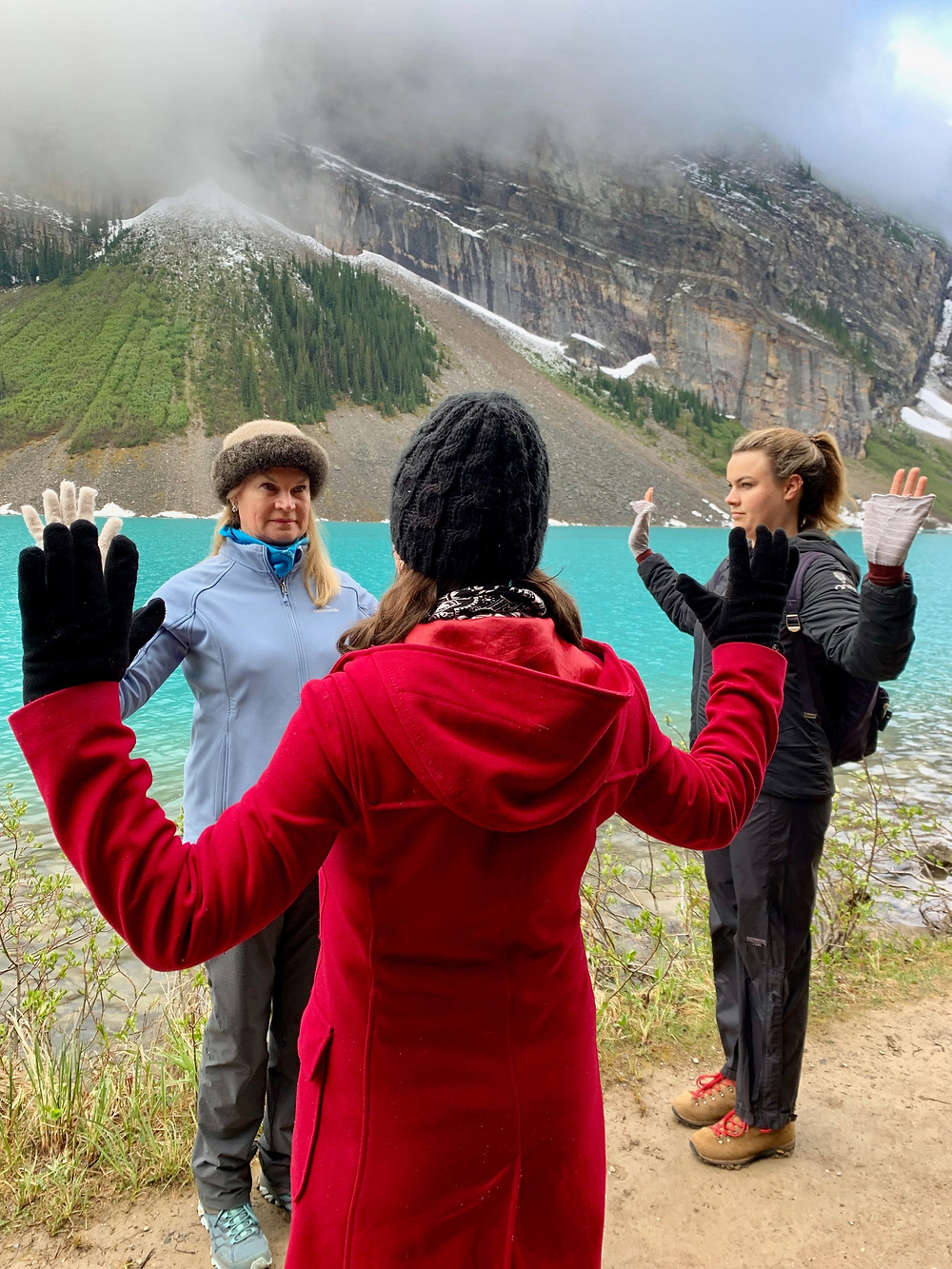 Mindful Walk in Lake Louise with Tracey Delfs