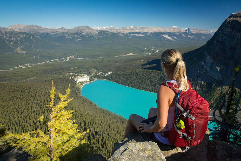 Mindful hiking in Lake Louise | Banff National Park