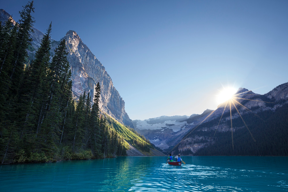 Best place to find stillness in Lake Louise, Alberta, Canada