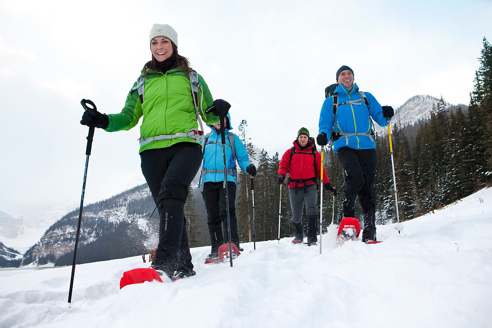 Snowshoeing in Lake Louise, Banff National Park