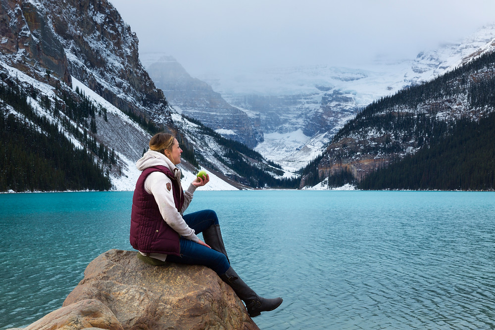 Mindful Eating in Lake Louise, Canadian Rocky Mountains