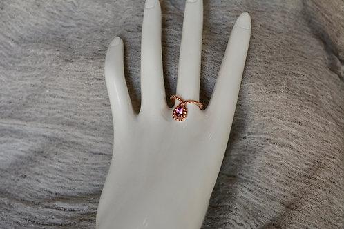 0.58ct ピンクサファイアの指輪 18k