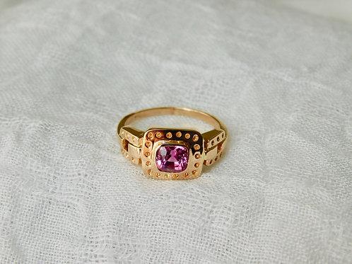 0.86ct ピンクサファイアの指輪 18k
