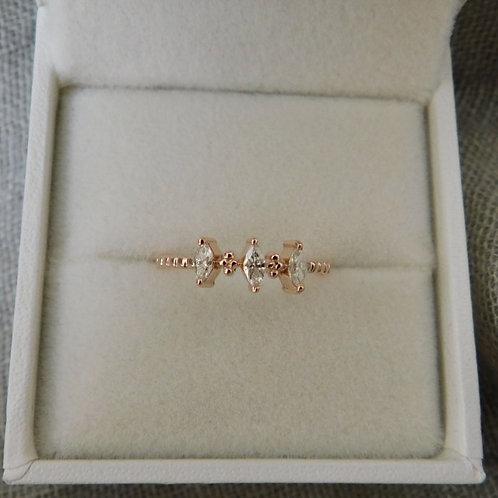 約0.20ct ダイアモンドの指輪 18k ピンク