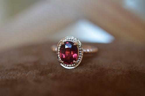 ロードライドガーネットの指輪 ピンクゴールド18K