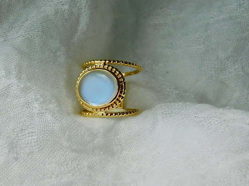 3.13ct ブルームーンストーンの指輪 18k