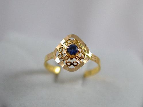 アラビクデザイン サファイアの指輪 21k