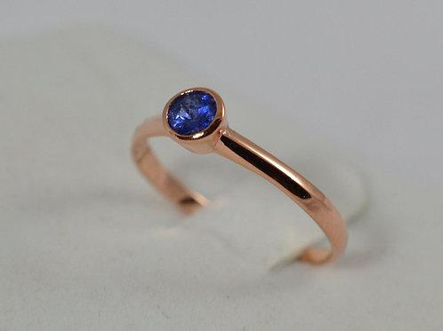 シンプル ブルーサファイアの指輪 18k