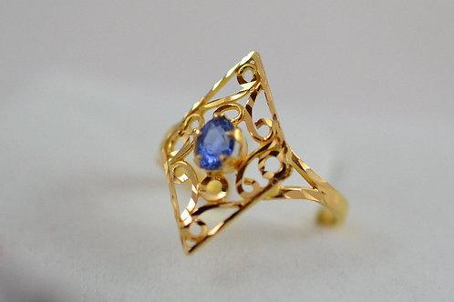 アラビックデザイン サファイアの指輪 21k