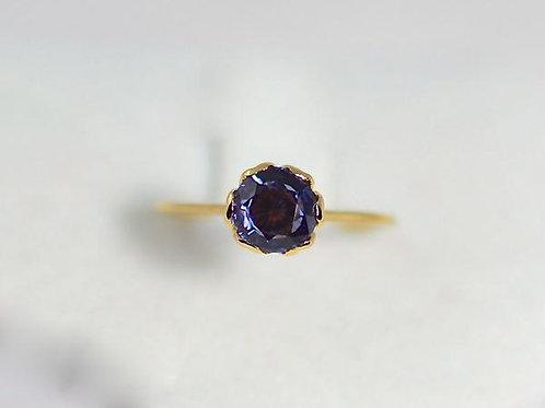 パープルスピネルの指輪 18k