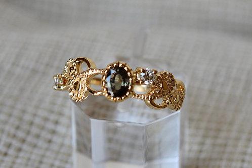 カラーチェンジガーネットの指輪 18k