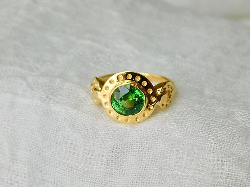 1.8ct グリーンジルコンの指輪 18k