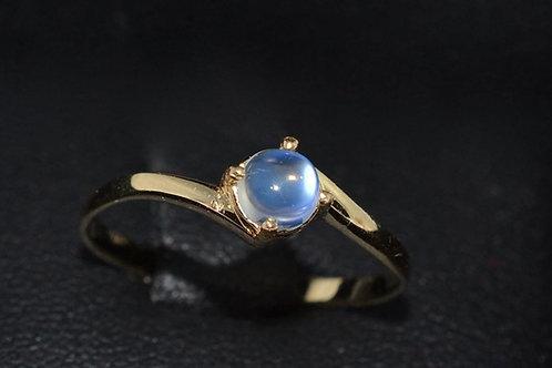 ブルームーンストーンの指輪18k