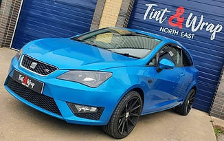 Seat Ibiza windows tinted by Tint & Wrap North East