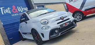 Abarth with windows tinted by Tint * Wrap North East