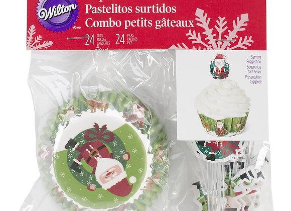 """Capacillos Diseño """"Santa Claus"""" (24 pzas)"""