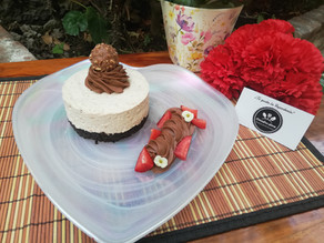 Mini Cheesecake de galleta de chocolate, dulce y crema de avellanas