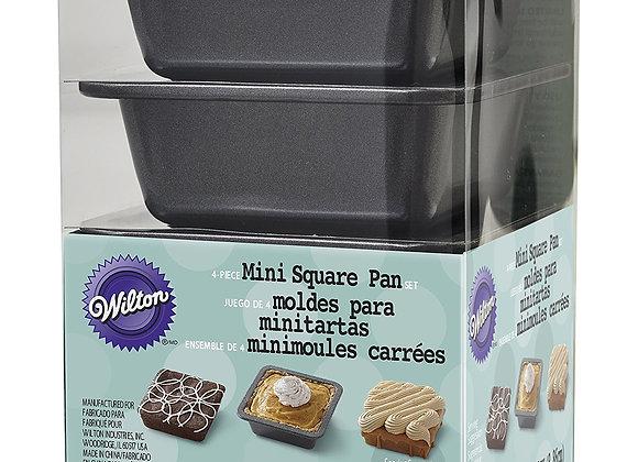 Molde Rectangular para Mini Tartas Set 4 Mini