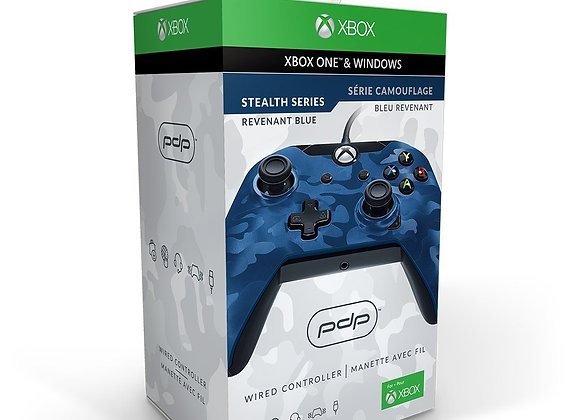 Control Alámbrico para Xbox One (PdP) Azul