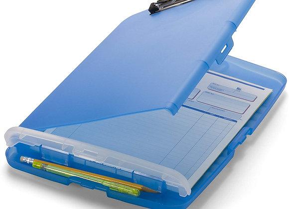 Porta papeles más compartimiento de lápiz colores variados