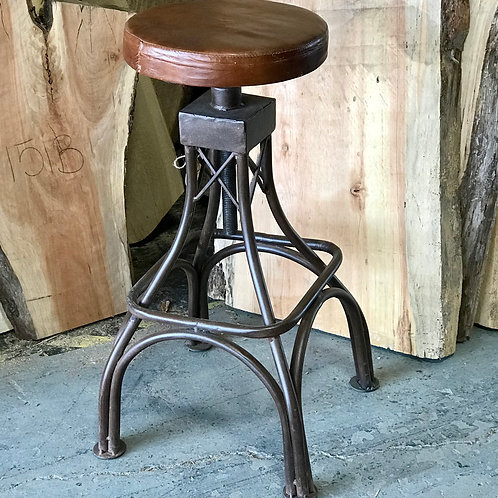 Upholstered Crank Stool