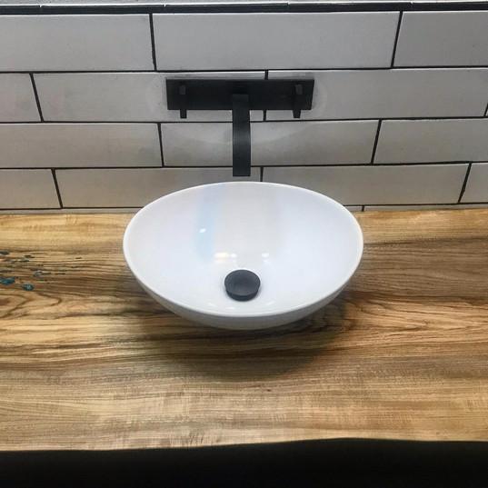 hackberry countertop with elm vanity