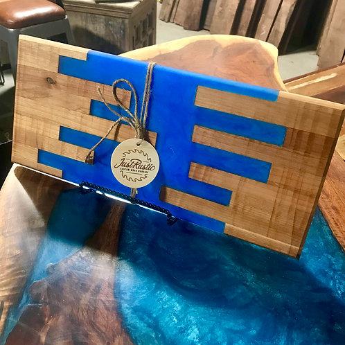 Blue Epoxy Segmented Board