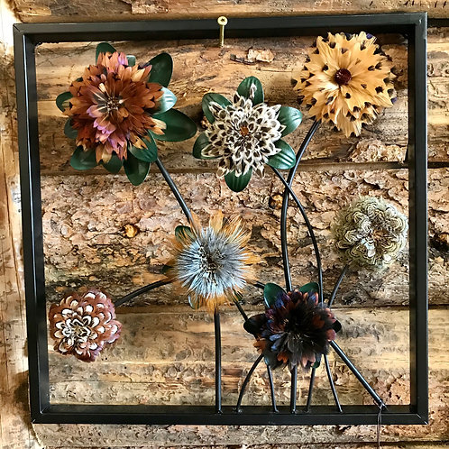 Feather Bloom Wall Hanging - Square