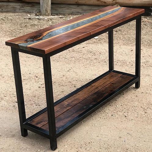 Walnut Hallway Table w/River