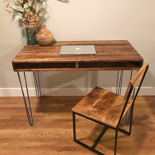 Hairpin Leg Desk with Storage