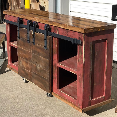 Rusty Red Console Table