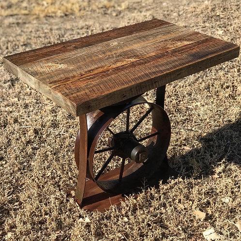 Farm Wheel End Table