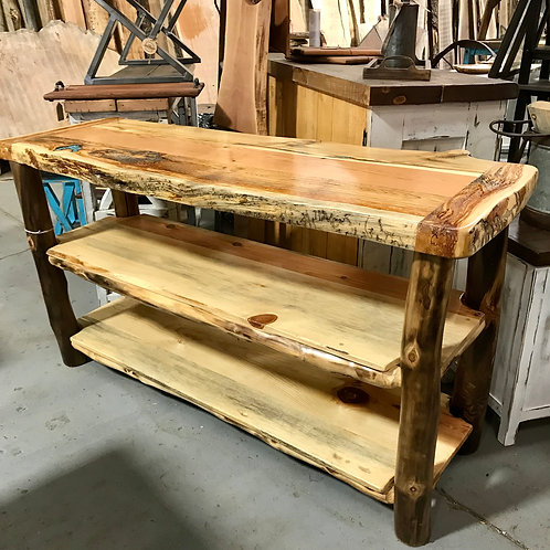 Aspen Log Hallway Table