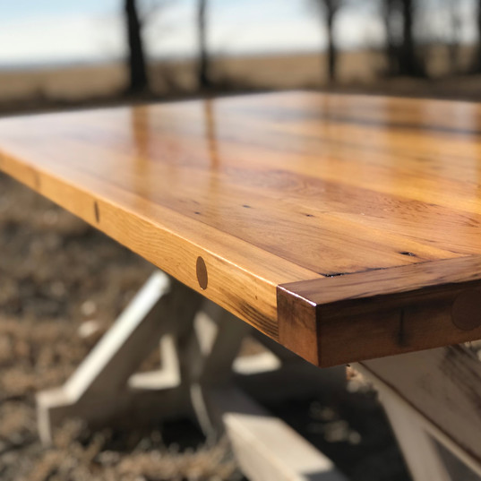 reclaimed pickle barrel table top