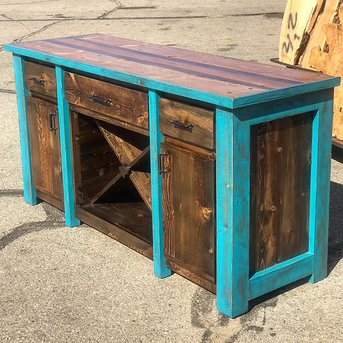 Farmhouse Wine Hutch