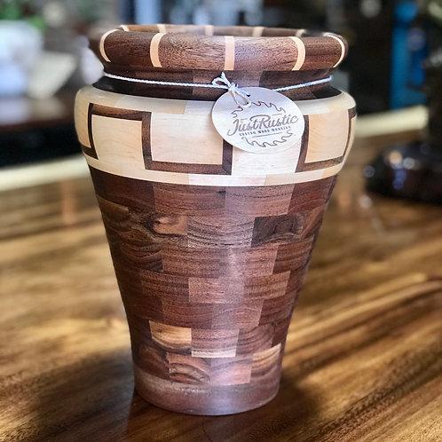 Walnut + Maple Vase