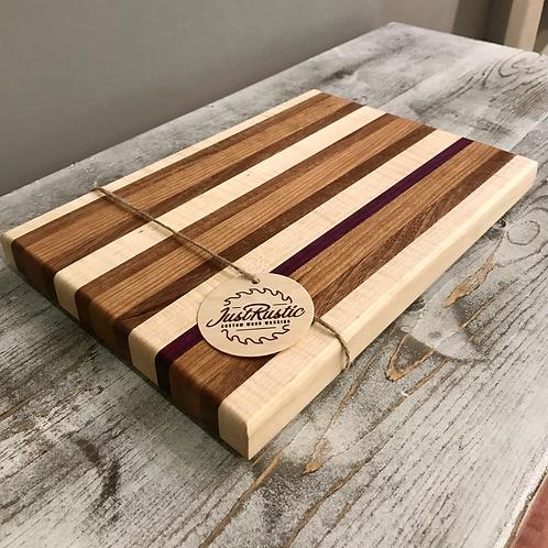 Mixed Woods Butcher Block Cutting Board