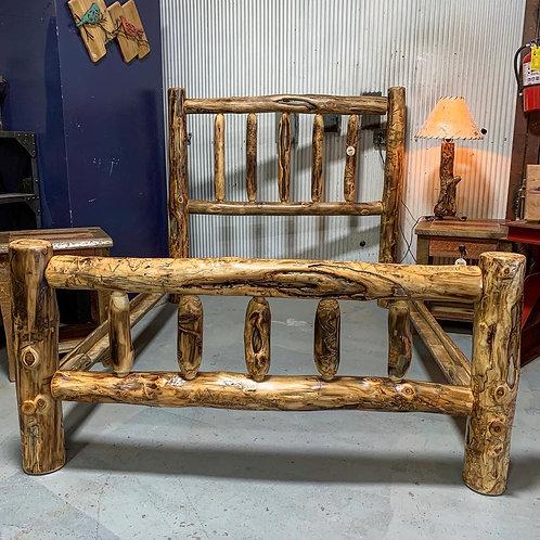 Aspen Log Queen Bed Frame