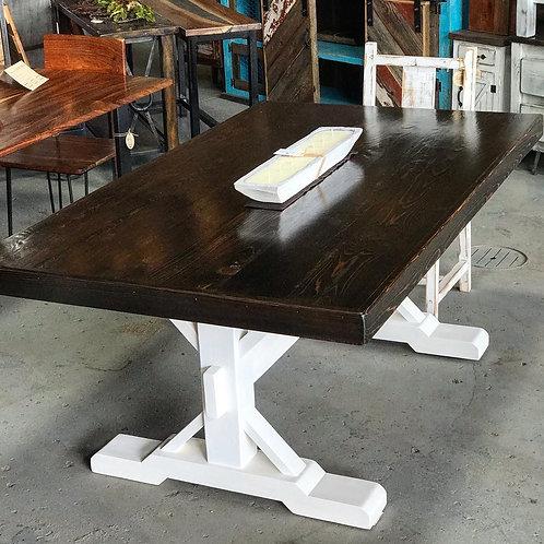 Trestle Base Farmhouse Table