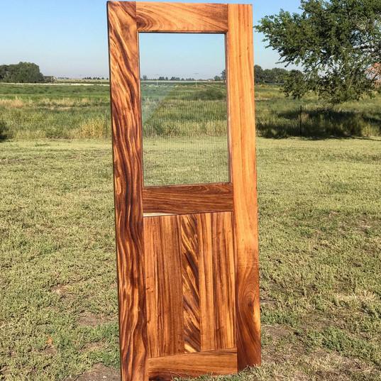 guanacaste pantry door with glass panel