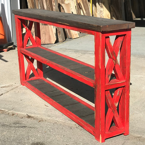 Red Hallway Table