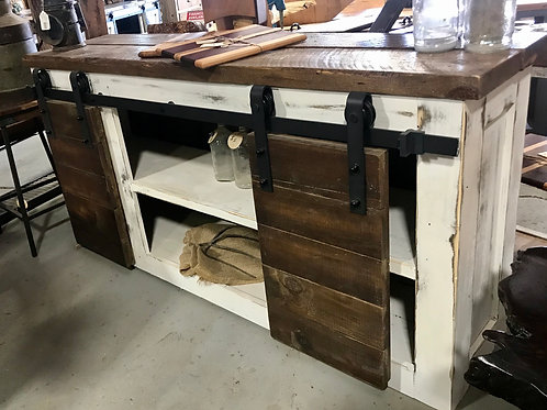 Reclaimed Wood Farmhouse Console Table