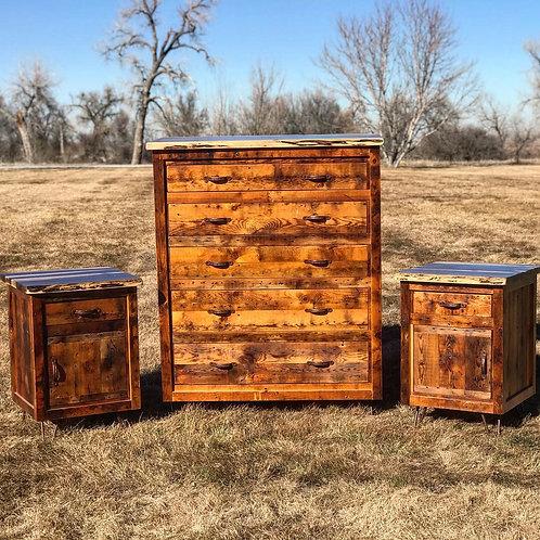 Reclaimed Wood Dresser Set