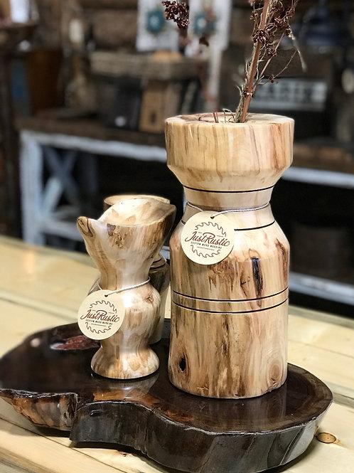 Large Aspen Log Vase
