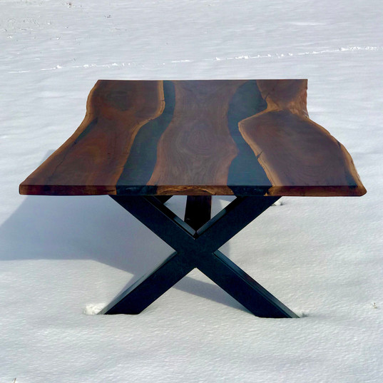 Double River Walnut Table