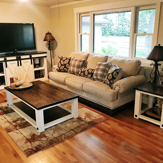 matching coffee and end table set