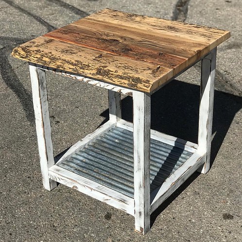 White Barn Wood Tables - Set of 3