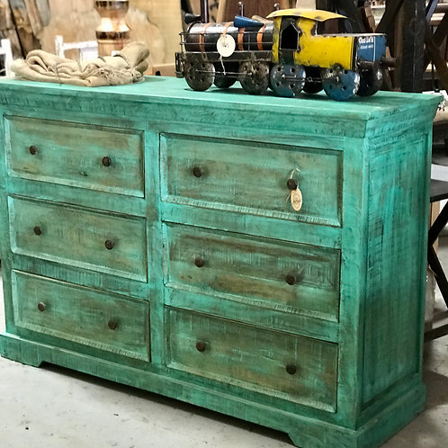 Distressed Green Dresser